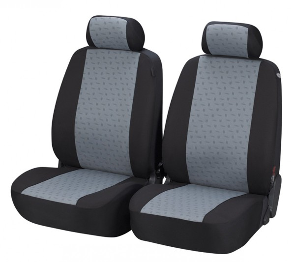 Autositzbezug Schonbezug, Vordersitzbezüge, Mini nur Vordersitzbezüge, Schwarz, Grau
