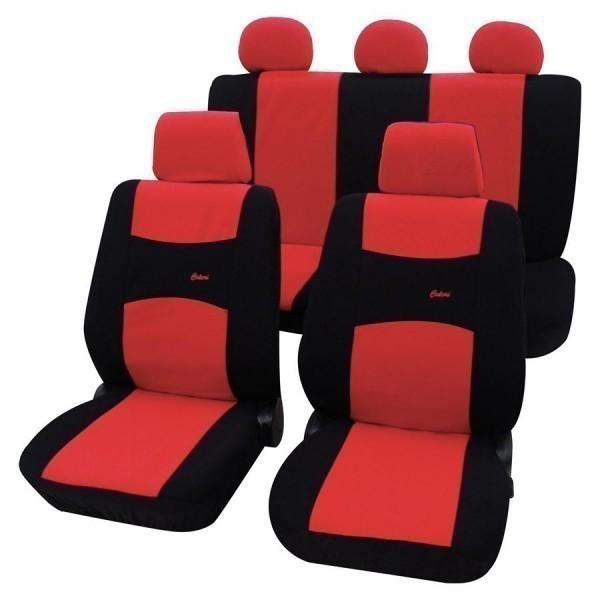autositzbezug schonbezug komplett set vw k fer rot schwarz. Black Bedroom Furniture Sets. Home Design Ideas